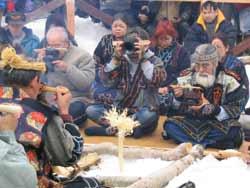 アイヌのみなさんによる春の儀式カムイノミ